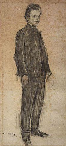 El compositor Enric Morera. Retrat de Ramon Casas