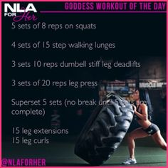 #NLA Goddess workout of the day!