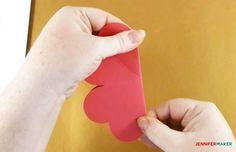 Make a Pop-Up Heart Rainbow Card - Jennifer Maker Hand Made Greeting Cards, Making Greeting Cards, Heart Pop Up Card, Pop Up Card Templates, Rainbow Card, Heart Crafts, Art N Craft, Creative Crafts, Kids Crafts