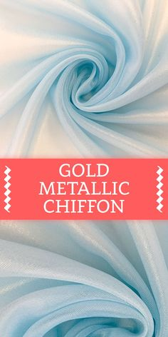 Microfiber Gold Metallic Chiffon in Sky Blue (Made with Gold Thread) Different Types Of Fabric, Kinds Of Fabric, Hand Embroidery Tutorial, Embroidery Fabric, Textile Pattern Design, Textile Patterns, Fabric Photography, B And J Fabrics, Fabric Textures