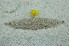 SoarDream popular Crystal Applique with Pearl bridal sash applique accessory * Want to know more, click on the image.