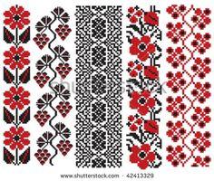 ukrainian embroidery flower elements