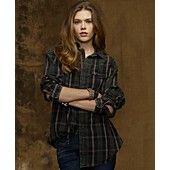 Denim & Supply Ralph Lauren Top, Long-Sleeve Plaid Boyfriend Shirt