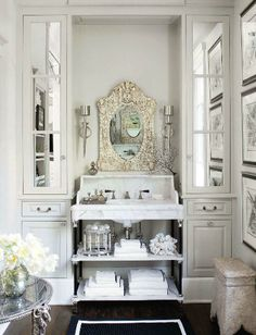 House of Windsor, Image from Veranda magazine Master Bedroom, Bath, and Dressing Room. Elegant white french country romantic