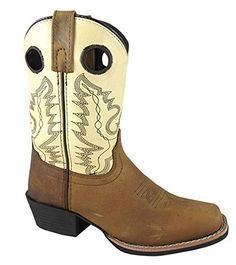 Smoky Mountain Kids Western Mesa Square Toe Boots - Distress Brown/Cream Youth 4.5 Smoky Mountain http://www.amazon.com/dp/B00A8SRMXM/ref=cm_sw_r_pi_dp_.aR9wb1NFXD6S
