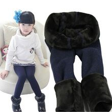 2016 Hot baby girl leggings de algodón leggings niños chicas invierno polainas de terciopelo grueso pantalones de invierno para bebés KZ01(China)