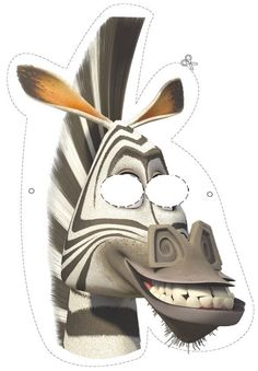 marty the zebra party mask