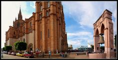 Panoramica Parroquia San Jose Obrero, Arandas Jalisco Mexico.. I can't believe I stood right there under that bell :)