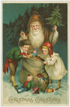 Vintage Christmas postcard  | New York Public Library Digital Gallery | free and public access