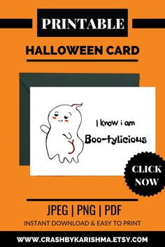 Boo Ghost having a sexy booty and its so bootylicious. This card is a printable and instant download. A drunken ghost ready for party hard with a big booty cause hips don't lie. A perfect cards for Halloween Party Ghost card to give to your friends and lovers. boo Monsters inc Ghost, halloween cards Handmade Ideas for boyfriend, Sayings, Funny, Cute, Happy, for girlfriend, for him, for her  greeting cards Handmade, Design, Funny #halloween #greetingcard #etsy #printable #funny #cute #ghost Boyfriend Sayings, Cards For Boyfriend, Handmade Ideas, Handmade Design, Funny Halloween, Halloween Cards, Calligraphy Lessons, Funny Ghost, Boo Ghost