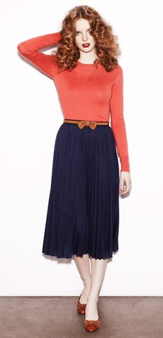 The pleated skirt £99, get the look: http://www.hobbs.co.uk/nw3/key-looks/pleated-skirt