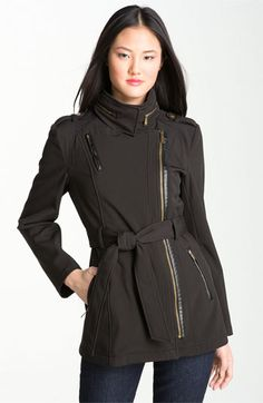 MICHAEL Michael Kors Asymmetrical Trench Coat available at #Nordstrom