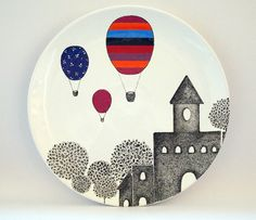Castle design wall plate by Zuppa Atelier