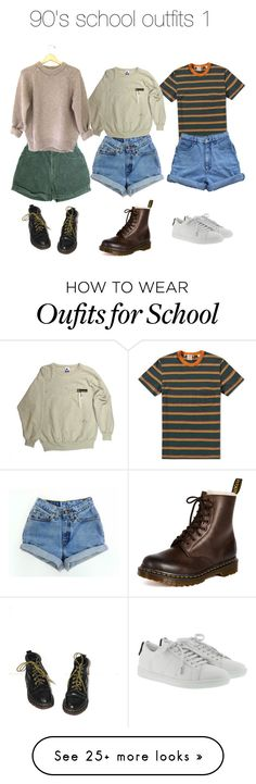 """90s school outfits 1"" by insomniac-who-loves-space on Polyvore featuring Levi's, Dr. Martens and Yves Saint Laurent"