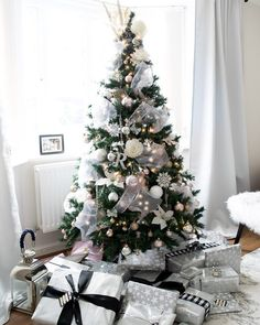 Silver christmas tree decorations - Top 12 beautiful Christmas tree decoration