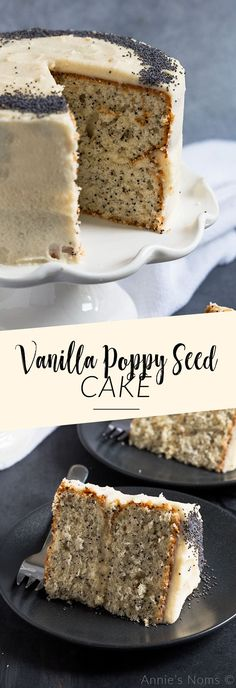 Vanilla Poppy Seed Cake, Desserts, This light and tender Vanilla Poppy Seed Cake is simple to make and decorate! Perfect for birthdays and smaller crowds as it's sized down for Brownie Desserts, Mini Desserts, Oreo Dessert, Easy Desserts, Cupcake Recipes, Baking Recipes, Dessert Recipes, Recipes Dinner, Pasta Recipes
