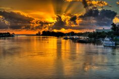 Jupiter Inlet Sunrise by Steve Huskisson Photography