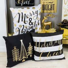 May your days be merry and bright this season with pops of gold and glitz!