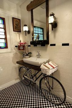 One Of The Coolest Ideas I Ve Seen Vessel Sink On A Bicycle