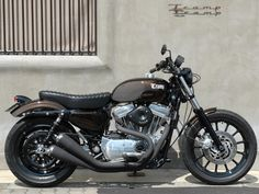 Harley Davidson Sportster Brat Style by Tramp Cycle #motorcycles #bratstyle #motos   caferacerpasion.com