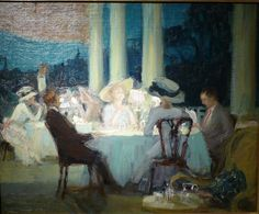 """Charles Hoffbauer (1875-1957) """"Country Club, Pittsburgh"""", 1910"""