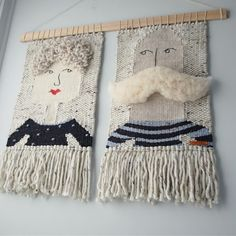 Weaving Art of People and Flowers by Olive And The Boy Weaving Wall Hanging, Weaving Art, Tapestry Weaving, Loom Weaving, Hand Weaving, Wall Hangings, Weaving Projects, Loom Knitting, Yarn Crafts
