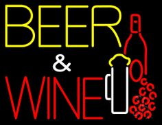 Beer And Wine With Bottle Neon Sign 24 Tall x 31 Wide x 3 Deep, is 100% Handcrafted with Real Glass Tube Neon Sign. !!! Made in USA !!!  Colors on the sign are Red and White. Beer And Wine With Bottle Neon Sign is high impact, eye catching, real glass tube neon sign. This characteristic glow can attract customers like nothing else, virtually burning your identity into the minds of potential and future customers.