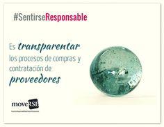 #SentiRSEResponsable es transparentar los procesos d compras y contratación de proveedores.