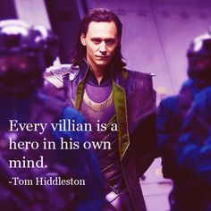Hiddleston has so many Loki feels.