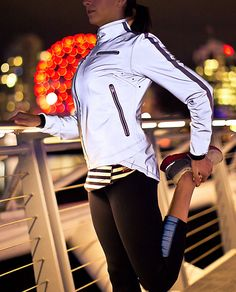 Lululemon Run Reflective Jacket--We designed this jacket with fully reflective iLUminate fabric to keep us bright and noticeable when we run in dark conditions