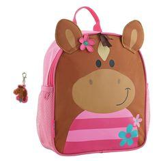 166b2ec950 Stephen Joseph Girls Mini Sidekick Horse Backpack and Zipper Pull