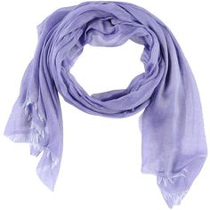 Arte Cashmere Stole ($25) ❤ liked on Polyvore featuring accessories, scarves, purple, purple shawl, cotton scarves, purple scarves and cotton shawl