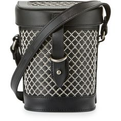 Kelsi Dagger Ainslie Straw Canteen Crossbody Bag ($75) ❤ liked on Polyvore featuring bags, handbags, shoulder bags, black mult, straw handbags, straw purse, cross-body handbag, crossbody purse and flap crossbody