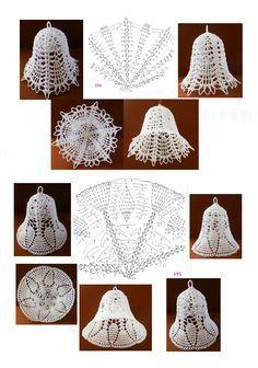 bajkopisarka - Her Crochet Crochet Snowflake Pattern, Christmas Crochet Patterns, Holiday Crochet, Crochet Snowflakes, Crochet Motif, Crochet Tree, Crochet Angels, Crochet Crafts, Crochet Flowers