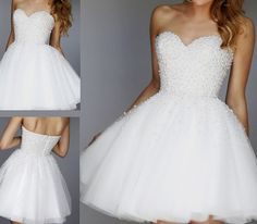 White Pearls Homecoming Dress,Short Homecoming Dress,Sweet 16 Dress,Lace
