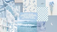 baby blue collage