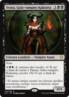 Drana, Grão-Vampiro Kalastria / Drana, Kalastria Bloodchief | Busca de Cards | Ligamagic