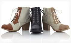 Groupon - $ 34.99 for Bucco Two-Tone Spring Lace-Up Boots ($ 99 List Price). Multiple Options Available. Free Shipping and Returns. in Online Deal. Groupon deal price: $34.99