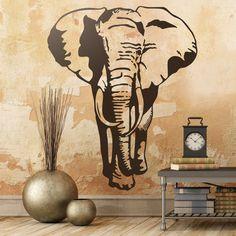 Elefante - VINILOS DECORATIVOS #elefante #vinilodecorativo #decoracion…