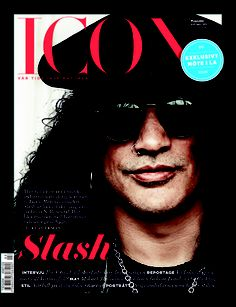 Cover story about Slash in Icon Magazine.