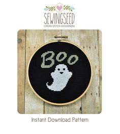 Ghost Cross Stitch Pattern Instant Download от Sewingseed на Etsy, $5.00