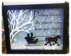 Shadow Box Ideas - Shadow boxes are a distinct means to maintain memories as well as tokens Christmas Shadow Boxes, Christmas Vinyl, Christmas Signs, Winter Christmas, Christmas Holidays, Christmas Decorations, Christmas Box Frame Ideas, Christmas Glass Blocks, Christmas Travel