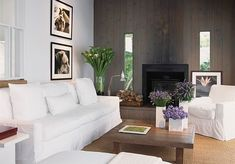 #Living room with beautiful flowers