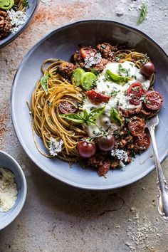 20 Minute Heirloom Tomato Basil Chicken Parmesan Bolognese // Half Baked Harvest