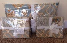 Pottery Barn Kennedy Patchwork Full Queen Quilt Amp 2 Std Shams New Floral Blue | eBay