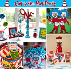 cat in the hat party #seuss