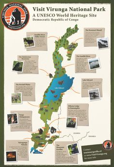 Some things to see in Virunga National Park.