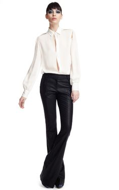Shop Prabal Gurung Metallic Flared Pant at Moda Operandi
