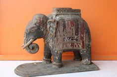 #vintage #elephant #wooden #antique #collectible #homedecor #prachinart