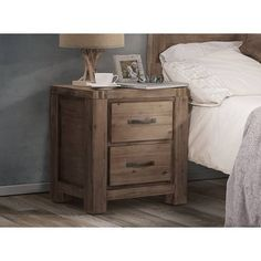 Bedside Pedestal - Acacia Wood Dresser As Nightstand, Bedside, Acacia Wood, Bedroom Furniture, Table, House, Pedestal, Bathroom, Home Decor